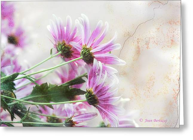 Greeting Card featuring the photograph Bouquet In Pink by Joan Bertucci