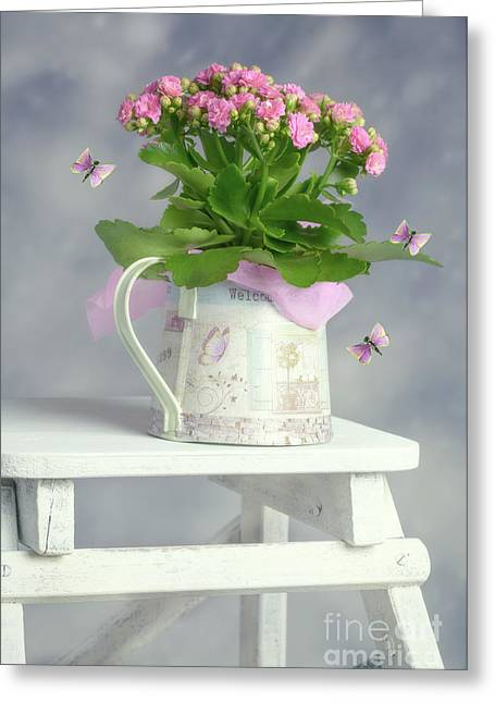 Bouquet In Watering Can Greeting Card
