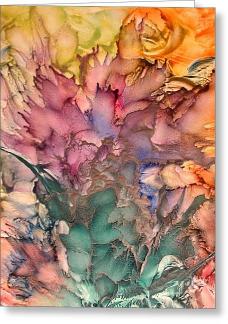 Bouquet Greeting Card by John Vandebrooke