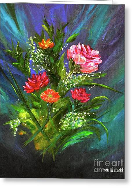 Greeting Card featuring the painting Bouquet by Mary Scott