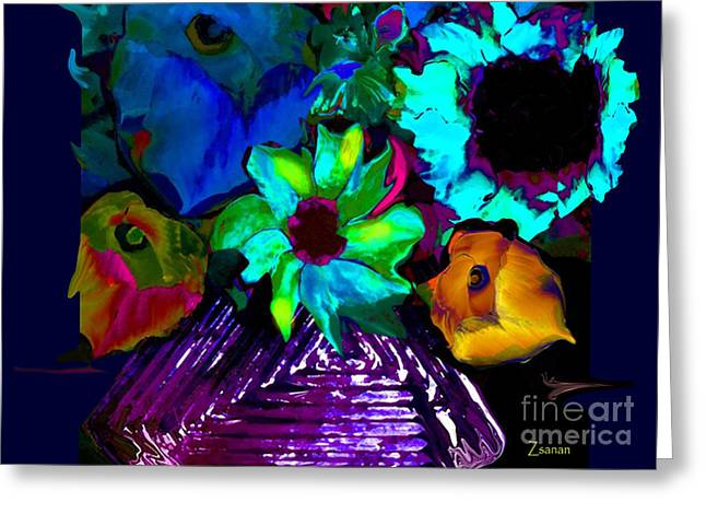 Bouquet In Fauve Greeting Card