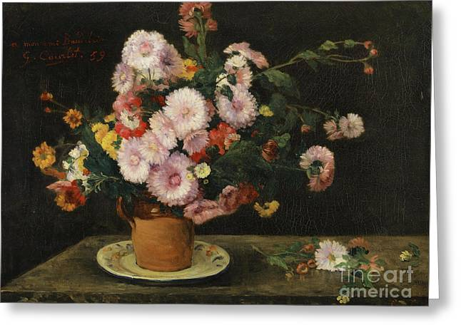 Bouquet Of Asters, 1859 Greeting Card