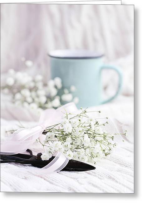 Greeting Card featuring the photograph Bouquet Of Baby's Breath by Stephanie Frey