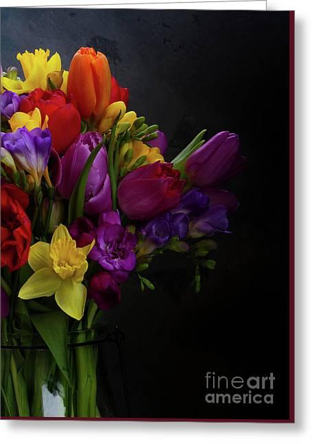 Flowers Dutch Style Greeting Card