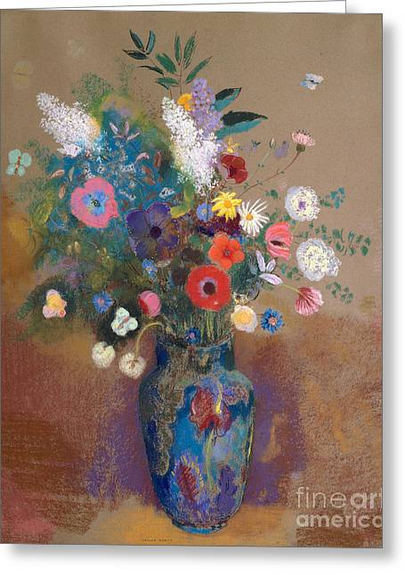 Bouquet Of Flowers, 1905 Greeting Card by Odilon Redon