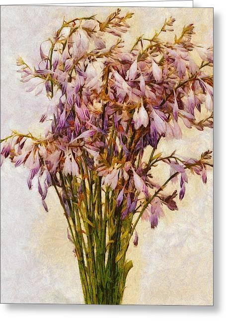 Bouquet Of Hostas Greeting Card