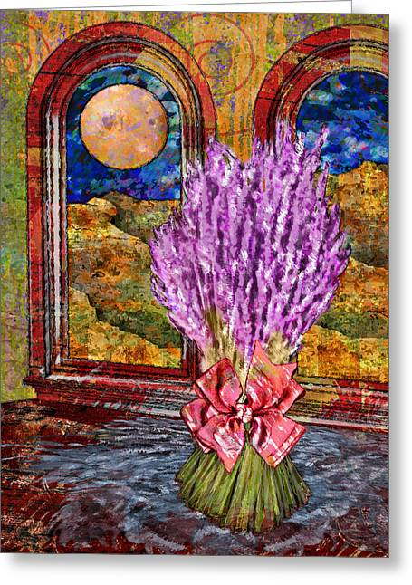 Bouquet Of Lavender Greeting Card by Mary Ogle