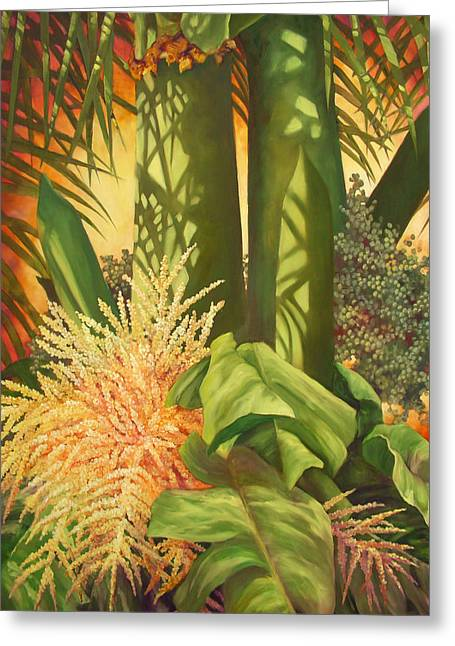 Bouquet Of Palm Greeting Card by Monica Linville