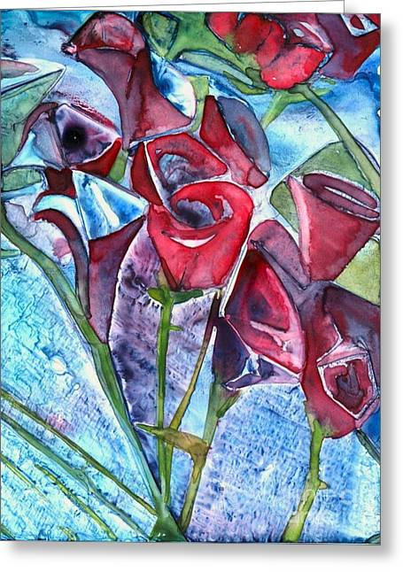 Bouquet Of Roses Greeting Card