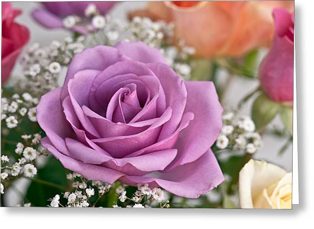 Bouquet Of Roses Greeting Card by Jeff Abrahamson