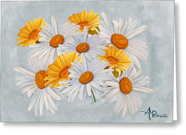 Bouquet Of Wild Flowers Greeting Card by Angeles M Pomata