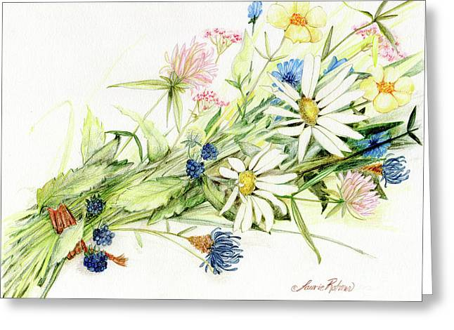 Bouquet Of Wildflowers Greeting Card
