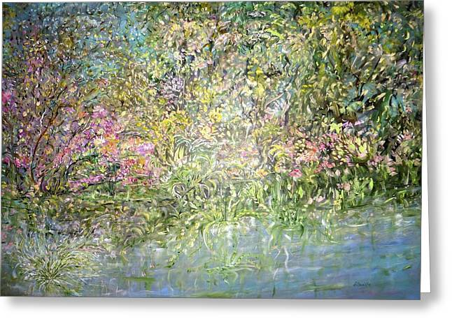 Bouquet Pour Monet Greeting Card by Sara Credito