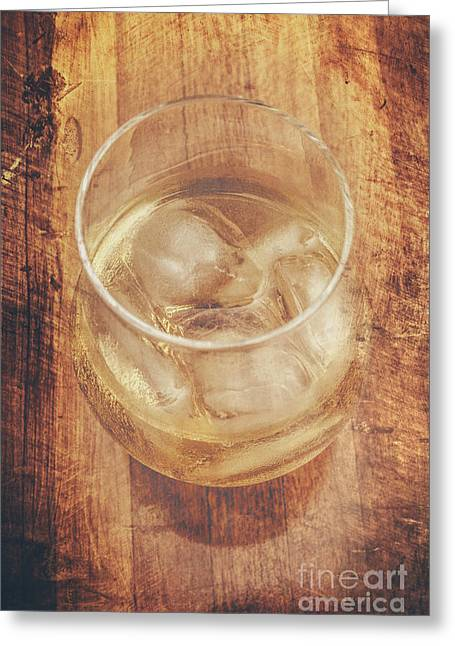 Bourbon And Ice Greeting Card