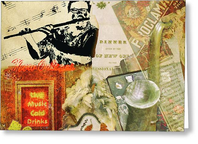 Bourbon Street Collage Greeting Card
