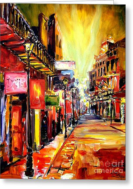 Bourbon Street Dazzle Greeting Card by Diane Millsap