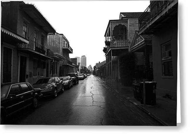 Bourbon Street In The Rain Greeting Card