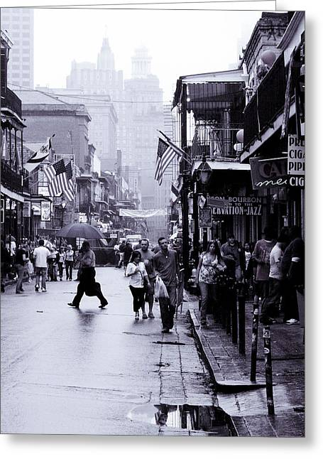 Bourbon Street In The Rain Greeting Card
