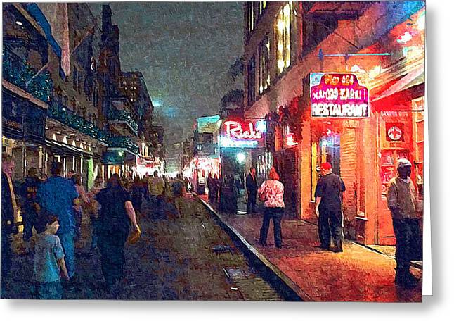 Bourbon Street - New Orleans Greeting Card by Glenn McCarthy Art and Photography