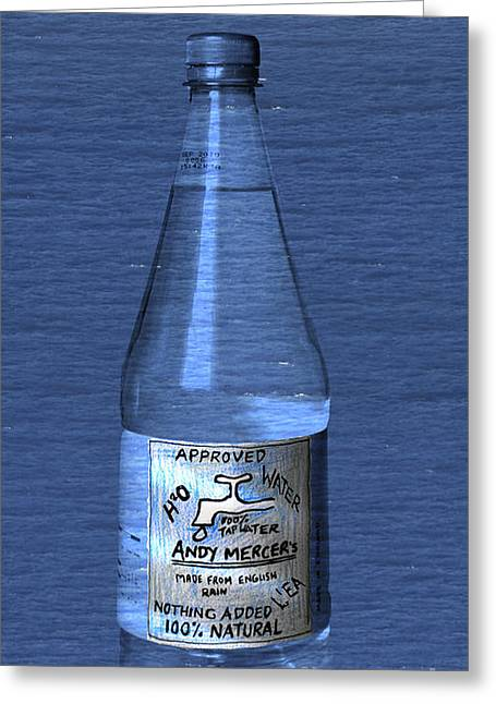 Bouteille De L'eau Greeting Card by Andy  Mercer