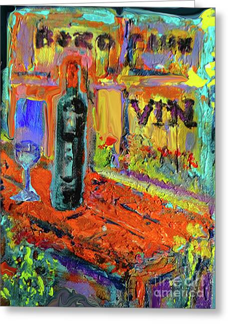 Boutique De Vins Francais 4 Greeting Card