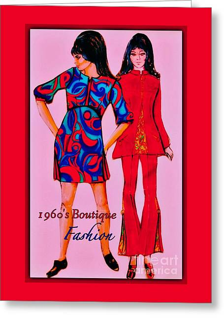 Boutique Fashion 1966 Greeting Card