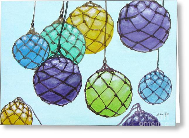Bouy Balls Greeting Card by Pauline Ross