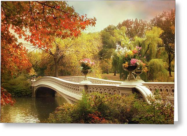 Bow Bridge Crossing Greeting Card by Jessica Jenney