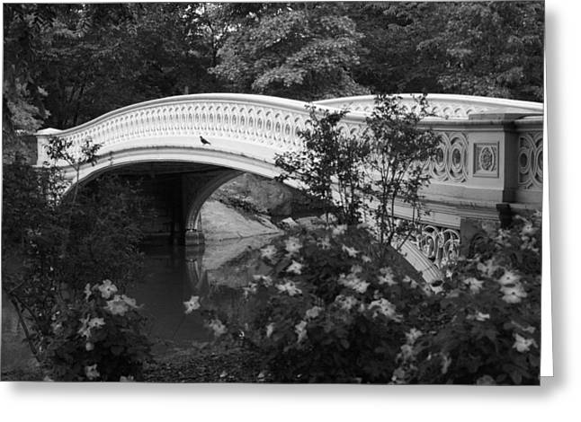 Bow Bridge In Central Park Greeting Card by Christopher Kirby