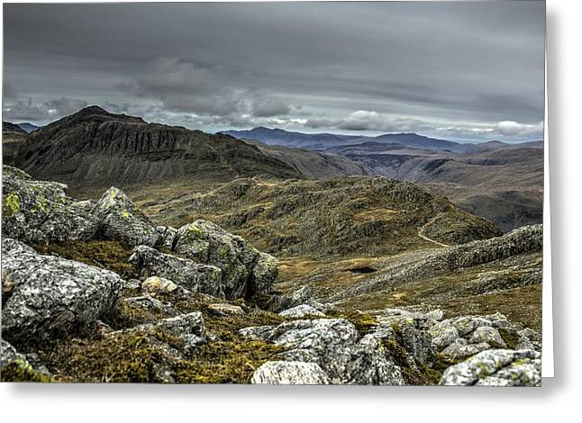 Bow Fell Greeting Card by Chris Whittle