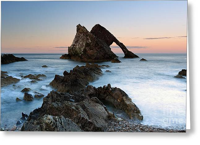 Bow Fiddle Rock At Sunset Greeting Card