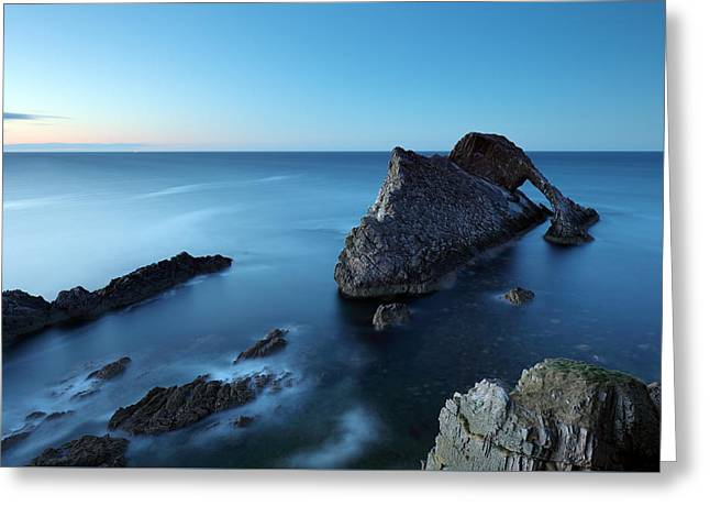 Bow Fiddle Rock Sunset Greeting Card