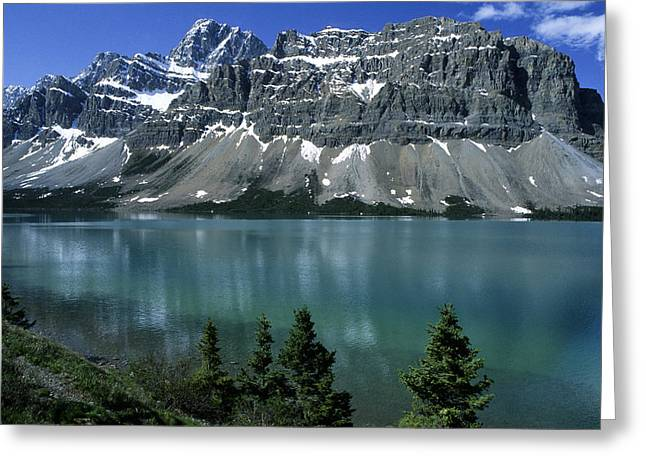 International Travel Greeting Cards - Bow Lake Area Greeting Card by Sandra Bronstein