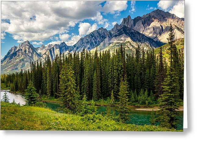 Greeting Card featuring the photograph Bow River by Claudia Abbott