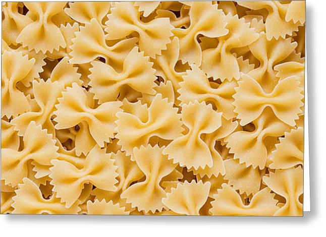 Bow Tie Pasta Greeting Card by Steve Gadomski
