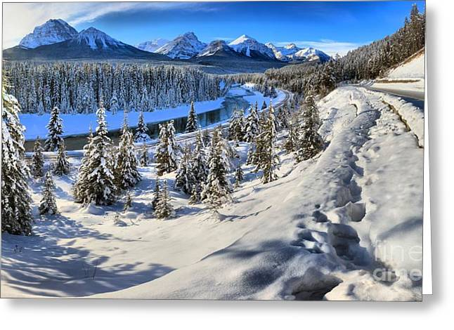 Bow Valley Mountains Greeting Card by Adam Jewell