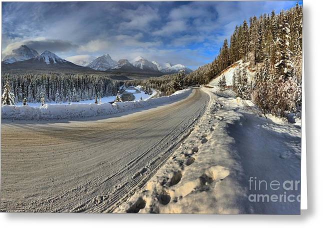 Bow Valley Winter Wonderland Greeting Card by Adam Jewell