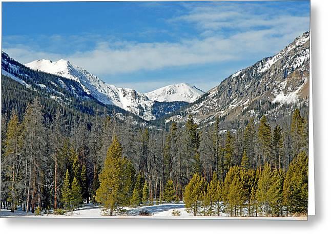 Bowen Mountain In Winter Greeting Card