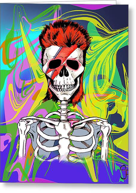 Bowie 1 Greeting Card by Andre Peraza
