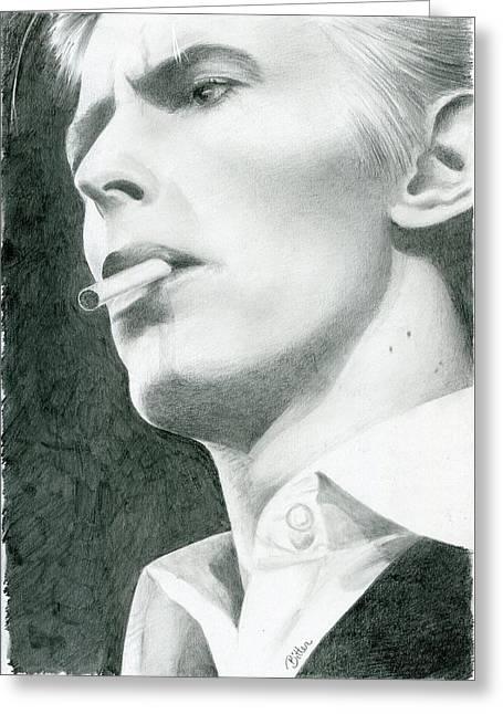 Bowie Greeting Card by Bitten Kari