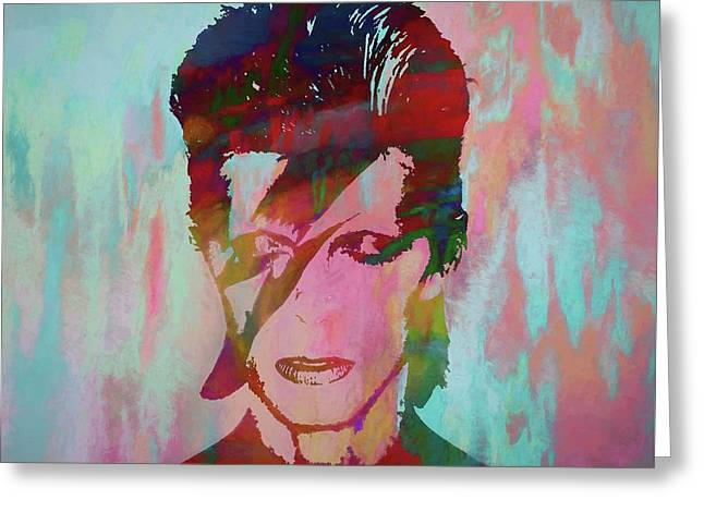 Bowie Reflection Greeting Card by Dan Sproul