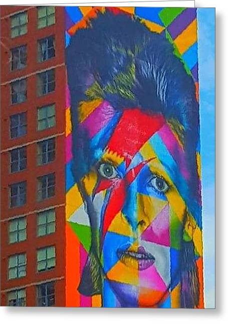 Bowie Greeting Card by Stacey Brooks