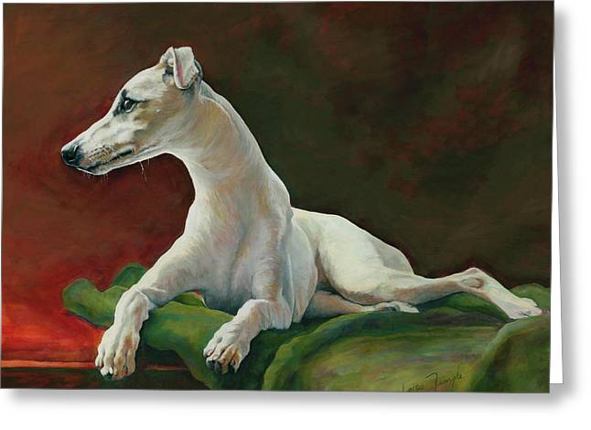 Bowie Whippet Greeting Card