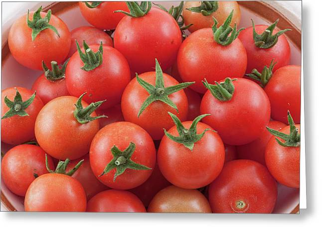 Greeting Card featuring the photograph Bowl Of Cherry Tomatoes by James BO Insogna