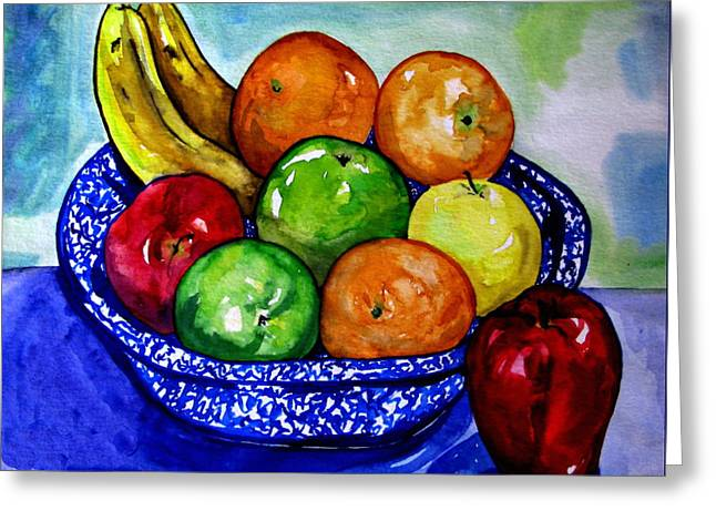 Bowl Of Fruit Greeting Card by Colleen Kammerer