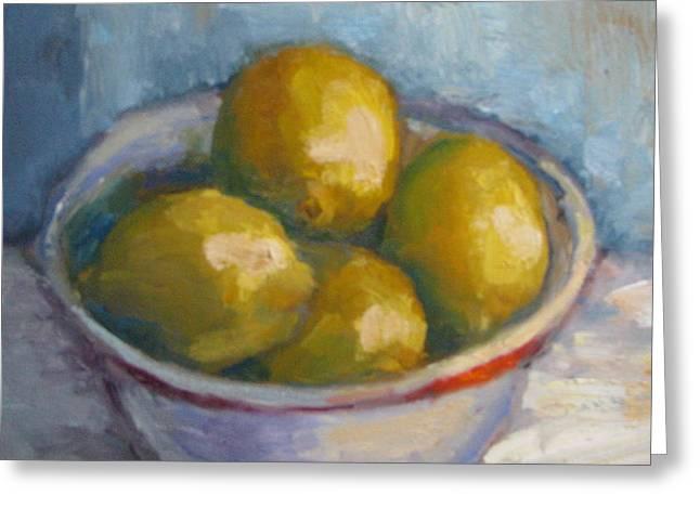 Bowl Of Lemons Greeting Card