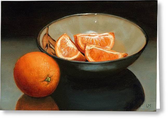 Bowl Of Oranges Greeting Card