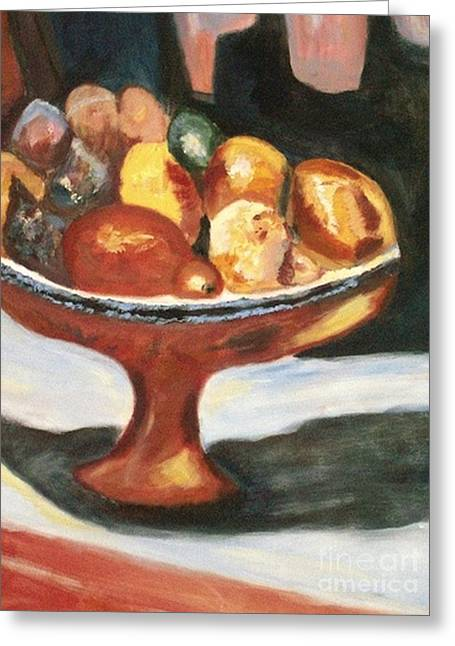 Bowl Of Passion Greeting Card by Helena Bebirian