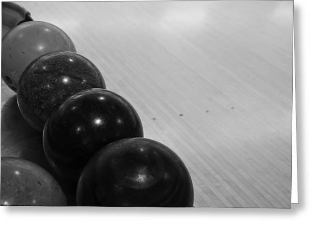Bowling Greeting Card by Edward Myers