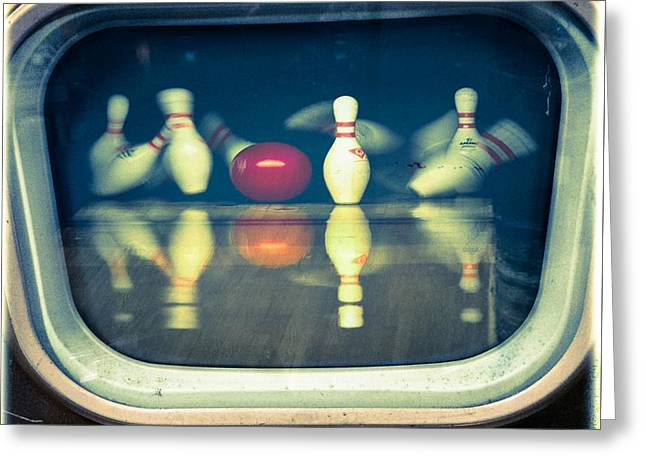 Bowling For Dollars Greeting Card by Steven Digman